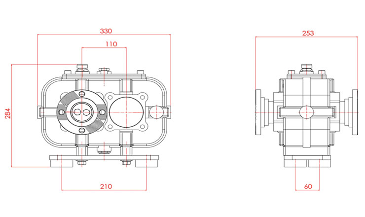 TYPE : OPS662 | REDUCTION GEARBOX