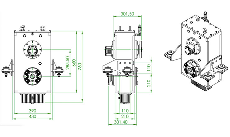 TYPE : OPS872 | REDUCTION GEARBOX