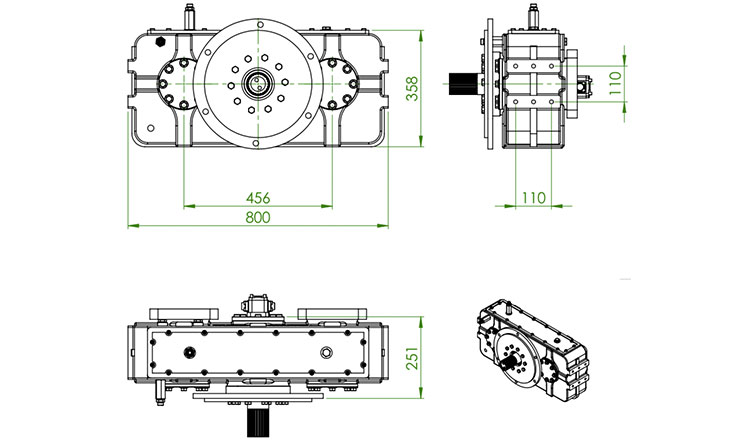 TYPE : OPS972 | REDUCTION GEARBOX
