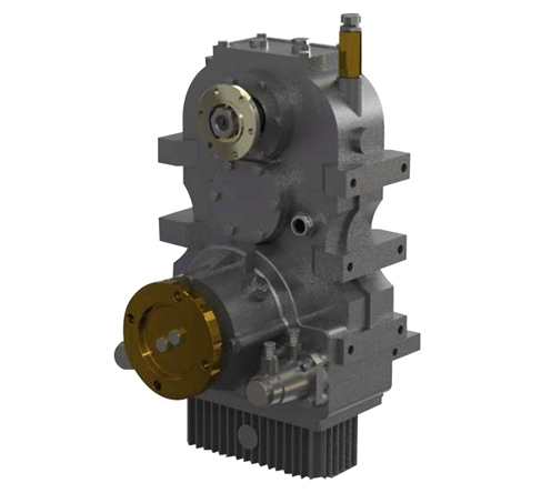 Vertical Split Shaft Unit, Vertical PTO, Vertical transfer case, Vertical gearbox, gearbox for firefight vehicles, omsi, Optima Drives