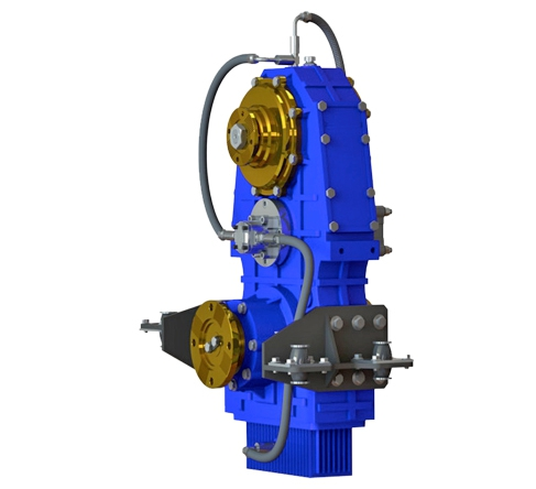 Vertical Split Shaft Unit, Vertical PTO, Vertical transfer case, Vertical gearbox, Parallel Hybrid Transmissions PHT, Optima Drives