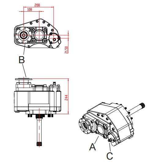 Mercedes Truck PTO, Auxiliary Drives, Auxiliary PTO, Auxiliary gearbox, heavy duty PTO, Special PTO's,
