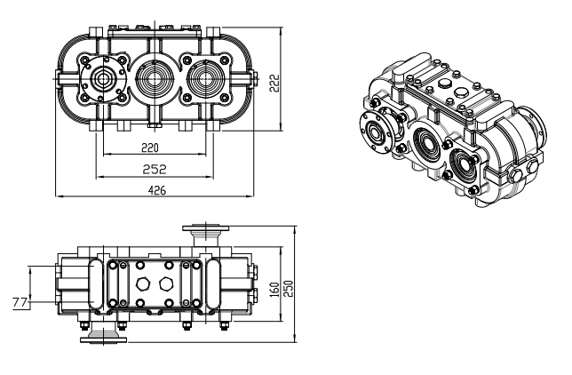 reduction gearbox, speed increaser, reducer, RPM increaser, Reducteur, Parallel-shaft gear reducer, PARALLEL GEARBOX, speed up gearbox,