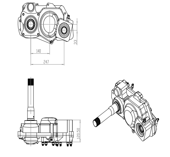 VOLVO PTO, volvo Auxiliary Drives, Auxiliary gearbox, additional PTO, heavy pto,