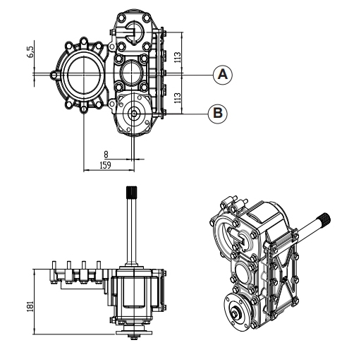 ZF PTO, zf Auxiliary Drives, MAN Auxiliary PTO, Auxiliary gearbox, heavy duty PTO, Special PTO's,