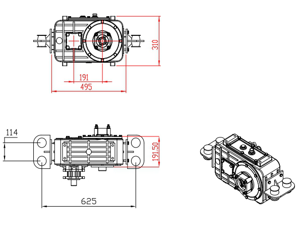 Type : OPS502 | REDUCTION GEARBOX