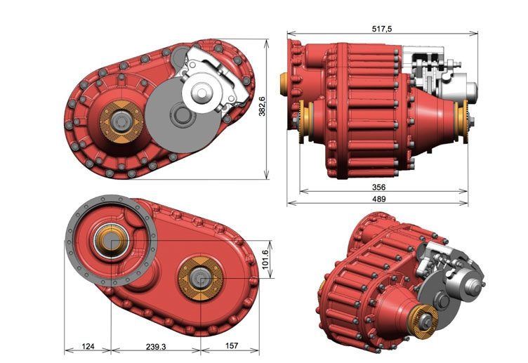 TYPE | OPS-005P DIRECT MOUNT TRANSFER CASE